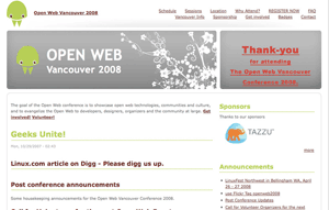 Open Web Vancouver Conference 2009